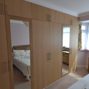 Large wardrobe unit custom built